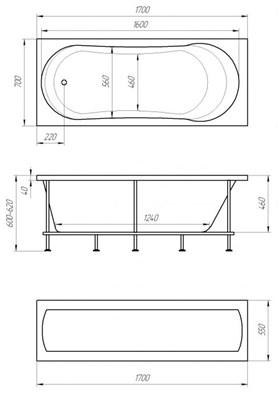 Акриловая ванна 1MarKa Libra 170х70 - фото 4873