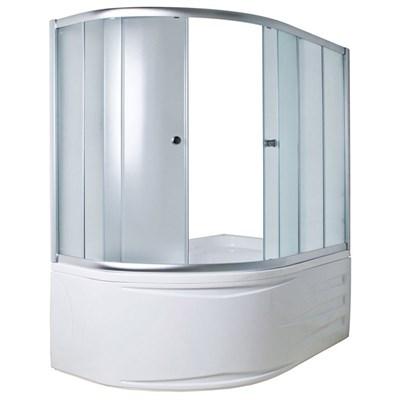 Шторка для ванны DIANA 170*105*140 ТS (хром, прозрач.) - фото 5293