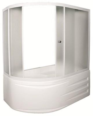 Шторка для ванны DIANA 170*105*140 ТW (белый, прозрач.) - фото 5294