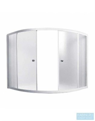 Шторка для ванны 140х140 МW (белый) - фото 5296