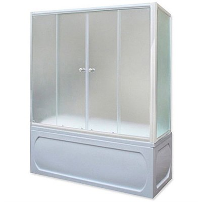 Шторка для ванны 160х140 MW (бел) - фото 5299