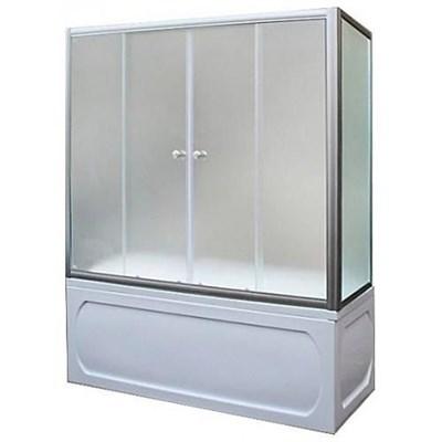 Шторка для ванны 160х140МS (хром) - фото 5300