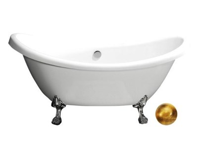 Акриловая ванна BelBagno BB05 1825*750*800 золото - фото 5436