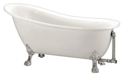 Акриловая ванна BelBagno BB06 170*76 хром - фото 5439