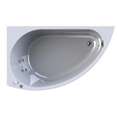 Акриловая ванна Vannesa by Radomir Бергамо L 168*100 с гидромассажем Wachter - фото 6182