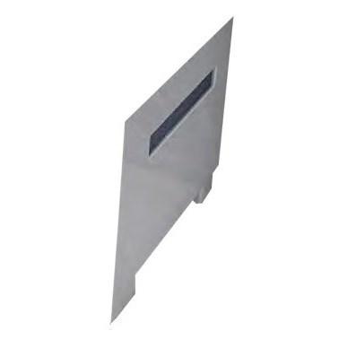 Торцевая панель Радомир Вега с горизонтальной серой вставкой правая - фото 6351