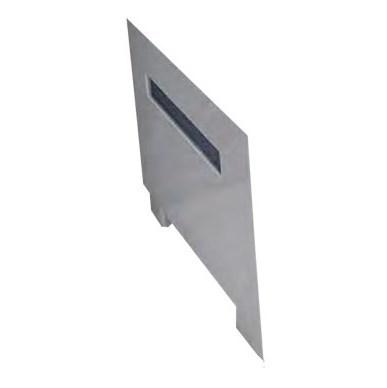 Торцевая панель Радомир Вега с горизонтальной серой вставкой левая - фото 6353