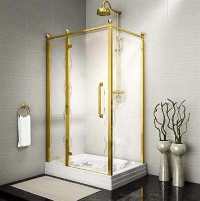 Душевой угол Радомир Лоренцо Великолепный 120 Gold левый - фото 6801