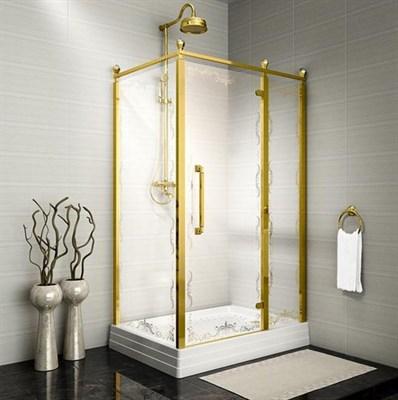 Душевой угол Радомир Лоренцо Великолепный 120 Gold правый - фото 6803