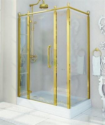 Душевой угол Радомир Лоренцо Великолепный 140 Gold левый - фото 6813