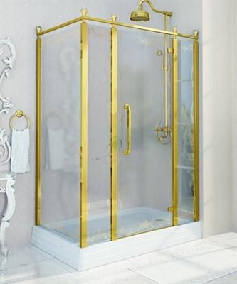 Душевой угол Радомир Лоренцо Великолепный 140 Gold правый - фото 6815