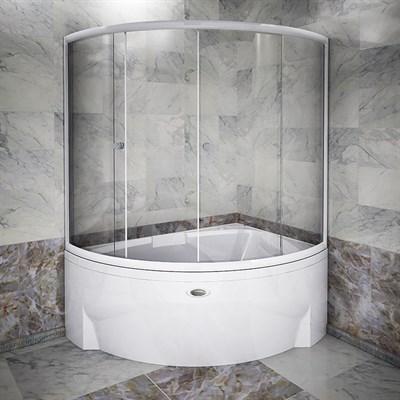Стеклянная шторка на ванну Радомир Астория - фото 6871