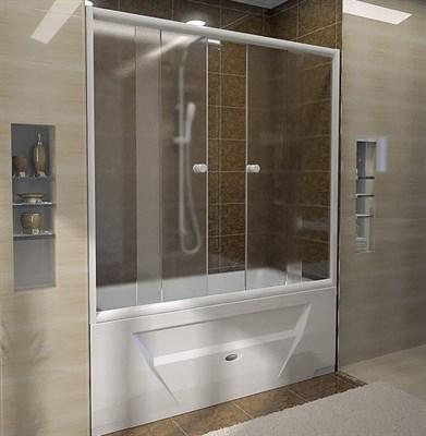 Стеклянная шторка Радомир на ванну Ларедо люкс 170х160 - фото 6877