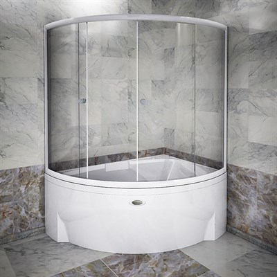 Стеклянная шторка на ванну Радомир Астория люкс - фото 6882