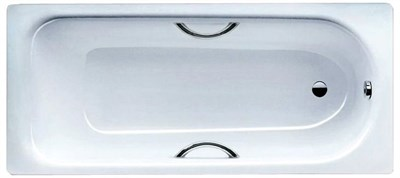 Стальная ванна Kaldewei Saniform Plus Star 336 с ручками, покрытием Anti-Slip  (170*75) - фото 8075