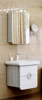 Мебель для ванны  Aqwella Аликанте 55 дуб седой с зеркальным шкафом