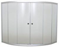 Шторка для ванны 140х140 МS (хром)