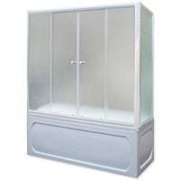 Шторка для ванны 150х140 МW (белый)