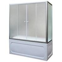Шторка для ванны 160х140МS (хром)