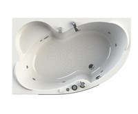 Акриловая ванна Vannesa by Radomir Ирма 1 L 169*110 с гидромассажем Wachter
