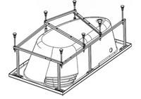 Монтажный комплект Santek Майорка XL асимметричный, 1WH112429