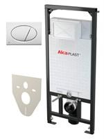 Система инсталляции для унитазов AlcaPlast Sadromodul A101/1200 4 в 1 кнопка смыва белая