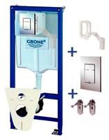 Система инсталляции для унитазов Grohe Rapid SL 38827000 4 в 1 с кнопкой смыва